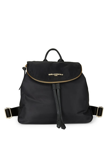 karl lagerfeld paris female cara nylon backpack