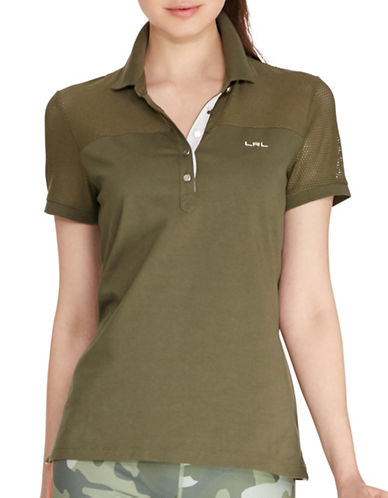 ralph lauren female 123809 meshpanel polo shirt