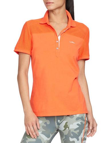 ralph lauren female 240769 meshpanel polo shirt