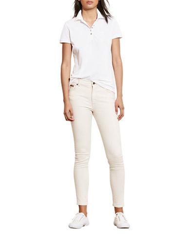 ralph lauren female 45883 monogram polo shirt