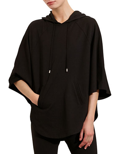 ralph lauren female 188971 hooded french terry poncho