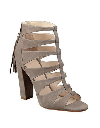 Buy Hindera T-Strap Suede Sandals by Marc Fisher Ltd online