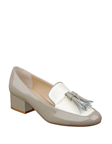 Buy Keisha Patent Leather Tassel Block Heel Slip-Ons by Marc Fisher Ltd online