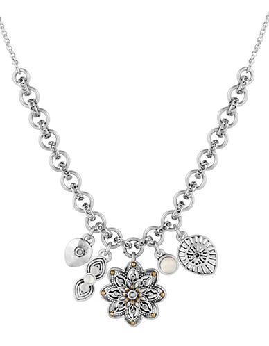 Semi-Precious Rock Crystal Charm Necklace