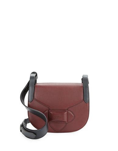 michael kors female 215965 daria leather saddle bag