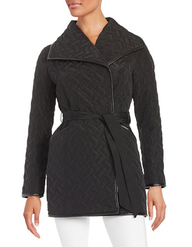 cole haan female 188971 quilted wrap coat