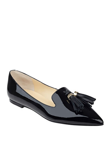 Buy Lama Tassel Accent Patent Leather Flats by Ivanka Trump online