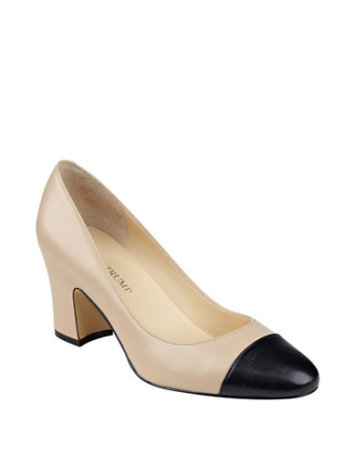 Buy Lindi Leather Cap-Toe Pumps by Ivanka Trump online