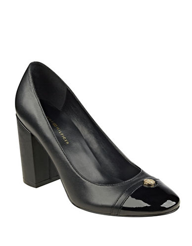 Buy Deane Cap Toe Leather Pumps by Tommy Hilfiger online
