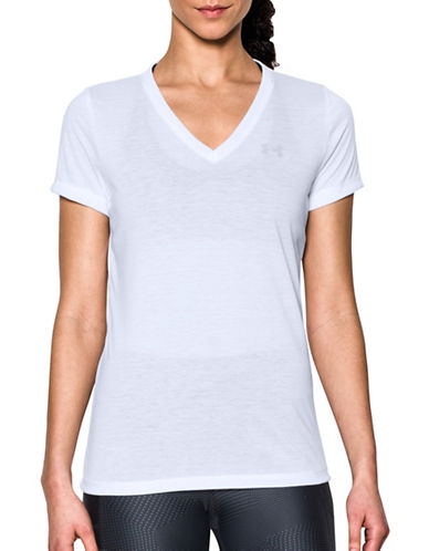under armour female threadborne train vneck tee