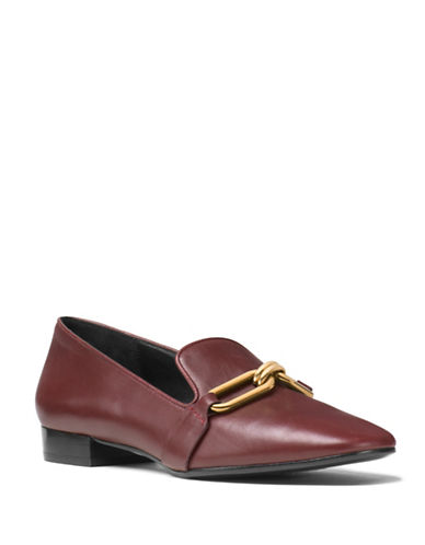 michael kors female 215965 lennox smooth leather loafer