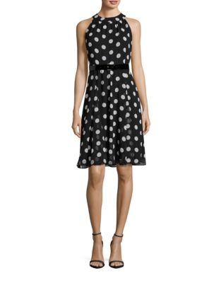 TOMMY HILFIGER Dotted Halter Dress