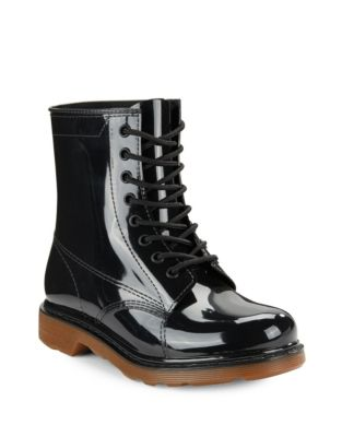 Design Lab Lord & Taylor Rubber Ankle Rain Boots