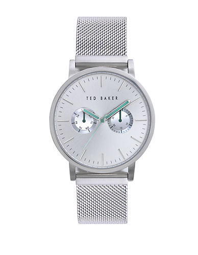 TED BAKERMens Stainless Steel Watch with Mesh Strap