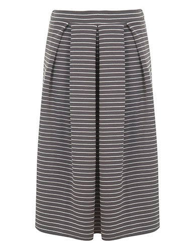 Miss Selfridge Stripe Jersey Midi Skirt