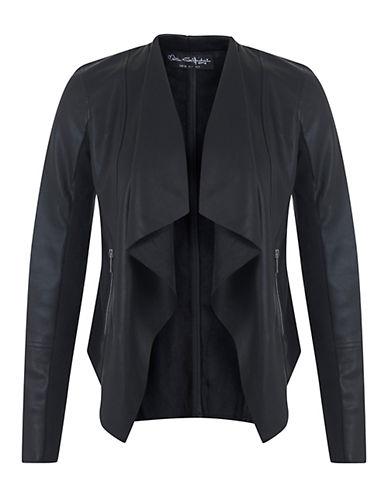 MISS SELFRIDGEFaux-Leather Waterfall Jacket