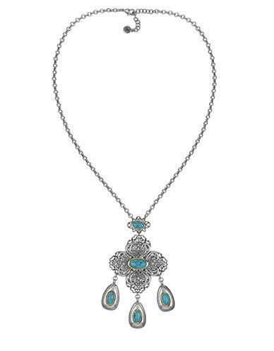 SAM EDELMANLe Grand Bleu Drop Pendant Necklace