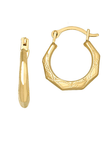 LORD & TAYLOR14K Yellow Gold Baby Hoop Earrings
