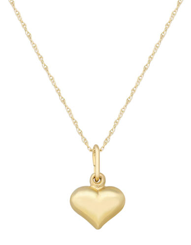 LORD & TAYLOR14K Yellow Gold Heart Pendant Necklace