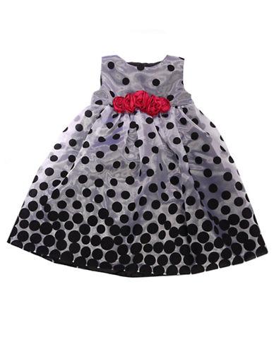 PENELOPE MACKBaby Girls Flocked Dot Dress