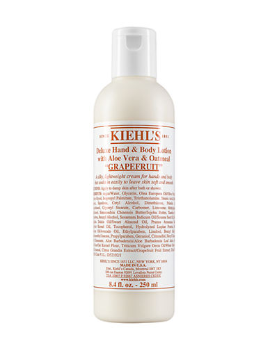KIEHL'S SINCE 1851 Grapefruit Deluxe Hand & Body Lotion with Aloe Vera & Oatmeal 8.4oz