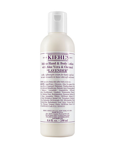 KIEHL'S SINCE 1851 Lavender Deluxe Hand and Body Lotion with Aloe Vera and Oatmeal 8.4oz