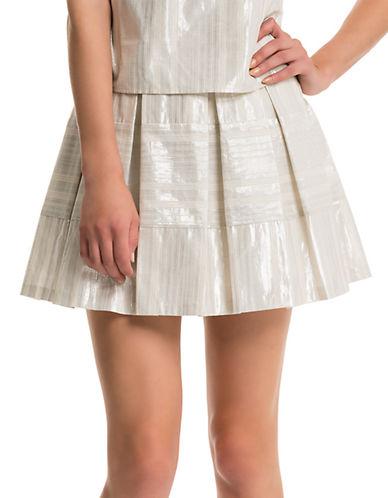 1 STATEMetallic Mini Skirt