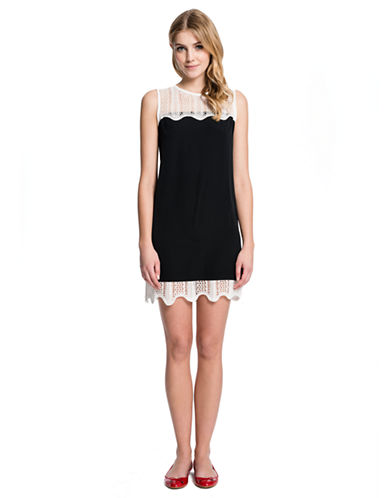 CECE BY CYNTHIA STEFFESuri Knit Trimmed Shift Dress