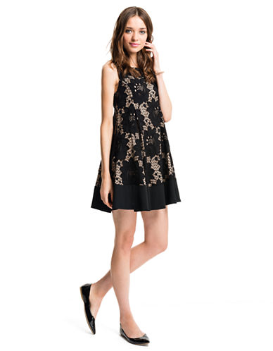 Shop Cece By Cynthia Steffe online and buy Cece By Cynthia Steffe Azura Floral Lace Fit and Flare Dress dress online