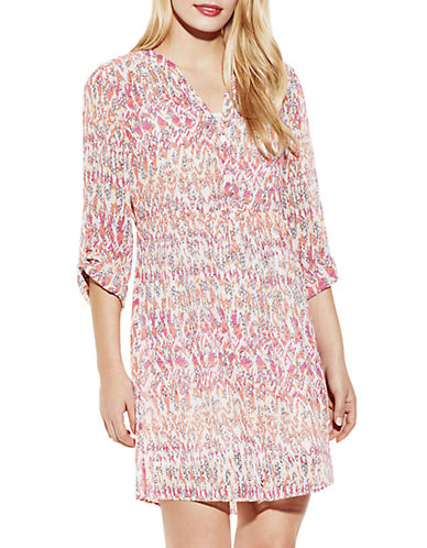 Shop Two By Vince Camuto online and buy Two By Vince Camuto Long-Sleeve Printed Shirtdress dress online