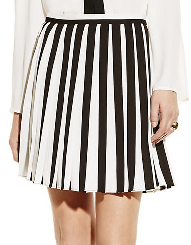 VINCE CAMUTOPleated Two-Tone Skirt