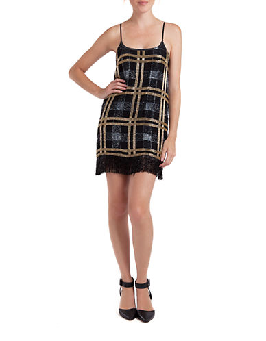 Saunder SAUNDER Bees Knees Fringe Dress