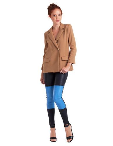 DANIELLA KALLMEYERPatch Front Leather Leggings