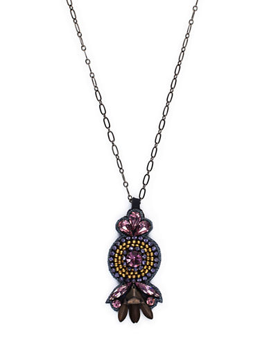 Deepa Gurnani Bulls Eye Multi-Color Glitz Pendant Necklace