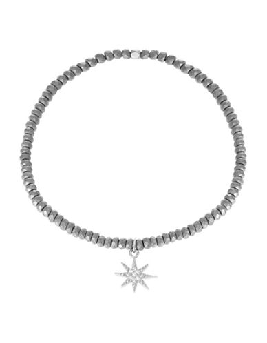 TAI RITTICHAISilvertone Pave Star Charm Stretch Bracelet