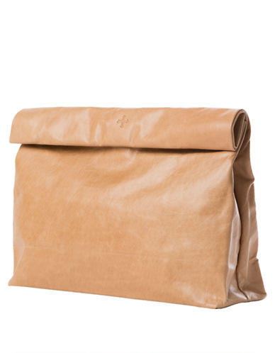MARIE TURNORLeather Lunch Bag Clutch
