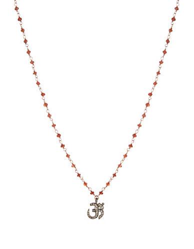 ELA RAEPhoebe Necklace With Diamond Om Charm