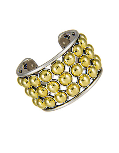 GILES AND BROTHERTwo-Toned Ball Cuff Bracelet