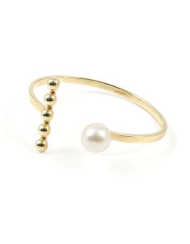 JOOMI LIMFaux Pearl Accented Asymmetrical Cuff Bracelet