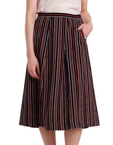 NIKKI CHASINStriped Cotton Midi Skirt
