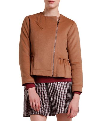 SVILUPeplum Wool Moto Jacket