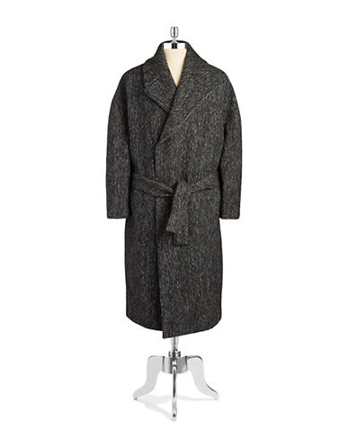 GENERAL IDEA Heathered Knit Coat