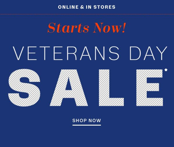 Veterans day coupons and discounts