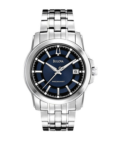 Men's Precisionist Stainless Steel Quartz Watch with Blue & Black Dial