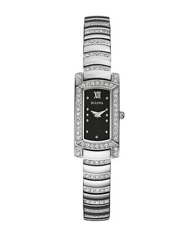 BULOVALadies Stainless Steel Glitz Bracelet Watch