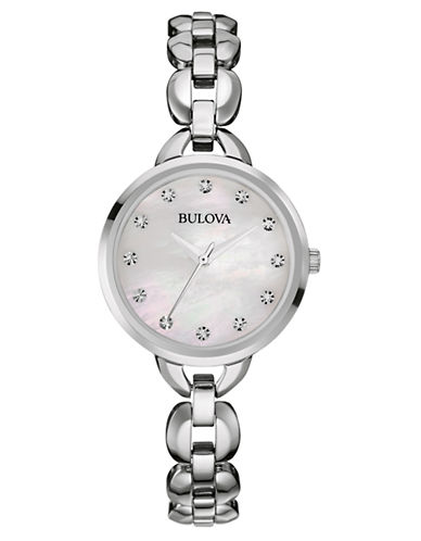 BULOVALadies Stainless Steel Watch with Mother of Pearl Dial