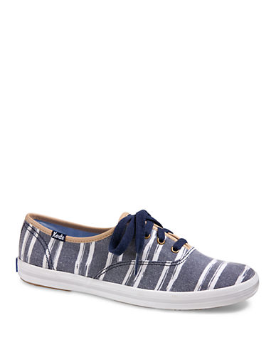 ca9489ecffc6 UPC 044209927461 - Keds Champion Washed Canvas Stripe Sneakers ...