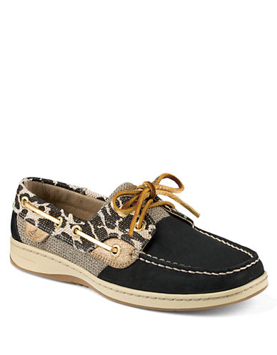 Sperry Top-Sider Bluefish Leopard Shimmer Boat Shoes