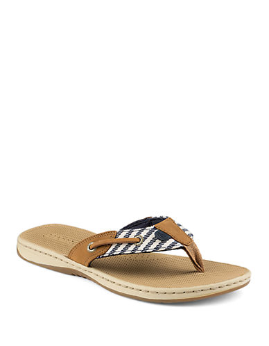 SPERRY Seafish Liberty Leather Thong Sandals