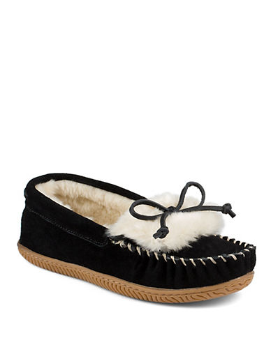 Buy Bree Joy Sherpa-Lined Suede Moccasins by Sperry online